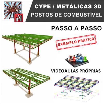 Curso Cype / Metálicas 3D 2019: Posto de Combustível