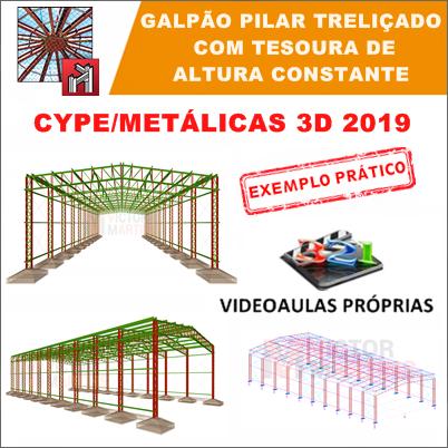Cype 3D 2019: Galpão com Pilar Treliçado